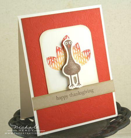 Gradient turkey card