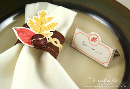 Npkin ring & place card