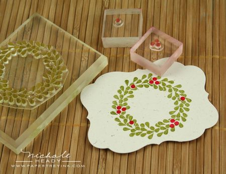 Stamping wreath & berries