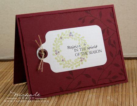Rejoice Tag Card