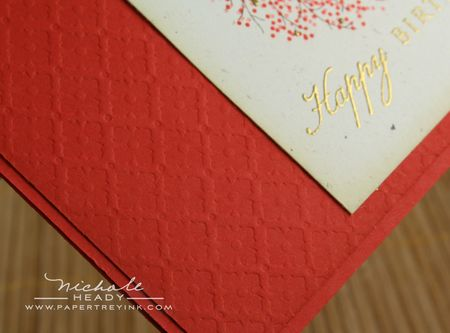 Embossed background