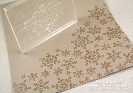 Stamping snowflakes