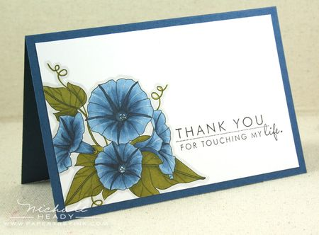 Blue Thank You card