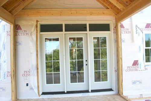 Screen porch door outside