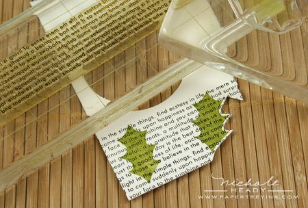 Text & holly leaves