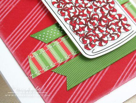 Ribbon strips closeup
