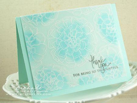 Aqua Thank You Card