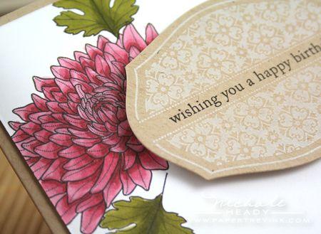 Flower & sentiment closeup