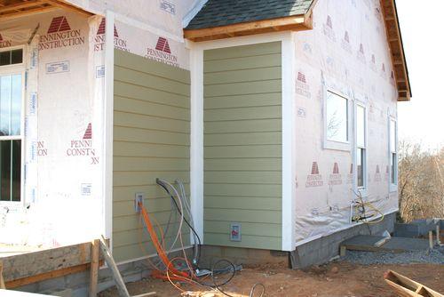 Exterior sided corner