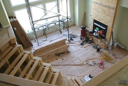 Great room floor from upsatirs