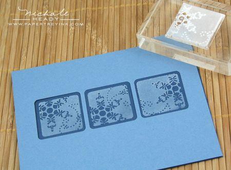 Stamping snowflakes