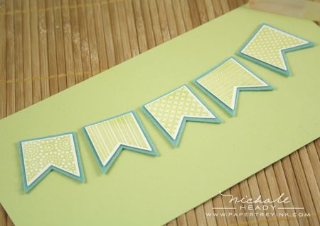 Adhering paper banners