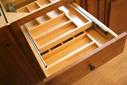 Cabinets silverware drawer