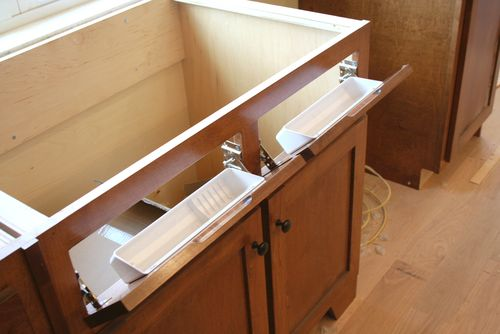 Cabinets sink drawer fronts open