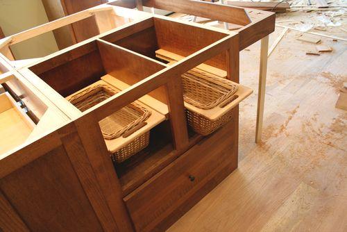 Cabinets island baskets