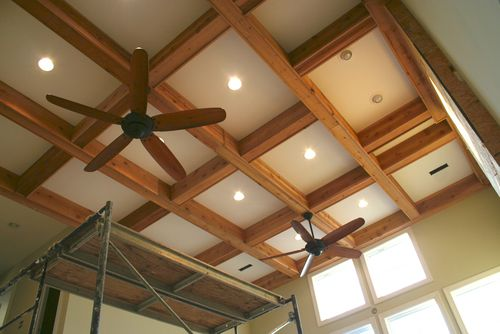Great room ceiling from foyer