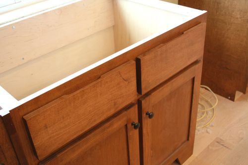 Cabinets sink drawer fronts