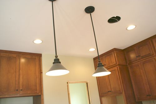 Cabinets island lights
