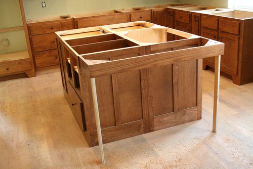 Cabinets island bar overhang