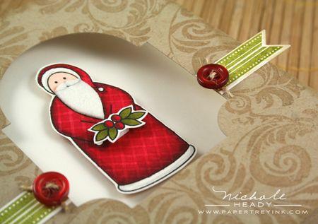 Santa & window laying down
