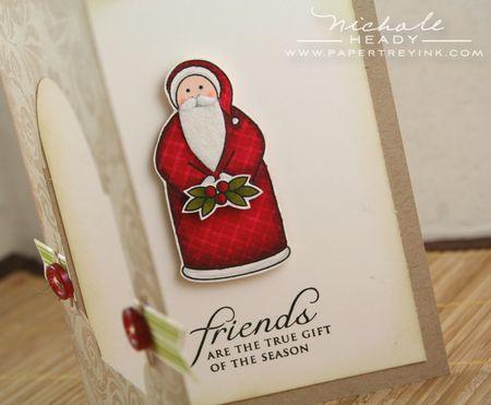 Santa card open