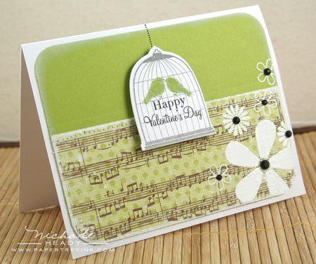 Green Valentine Card
