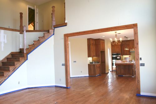 Great room into kitchen & stairs