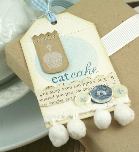 Eat Cake Tag closeup