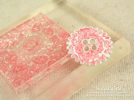 Floral stamped button