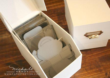 Impression plate box