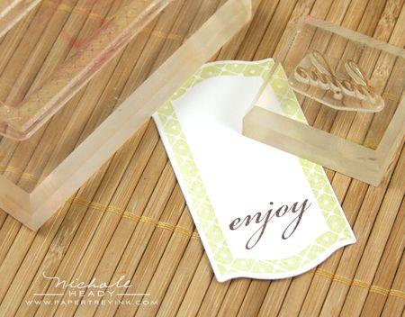 Stamping enjoy tag