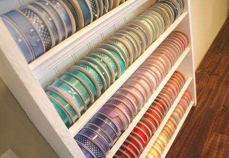 Ribbon Shelf down view