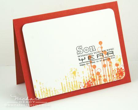 Red Grunge Card