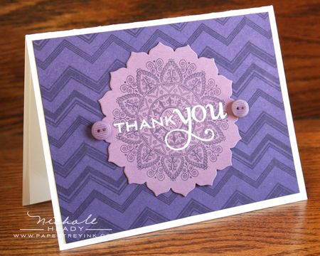 Purple Thank You Card