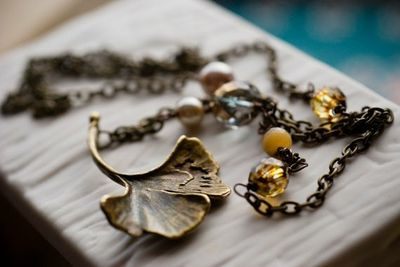 Gingko necklace