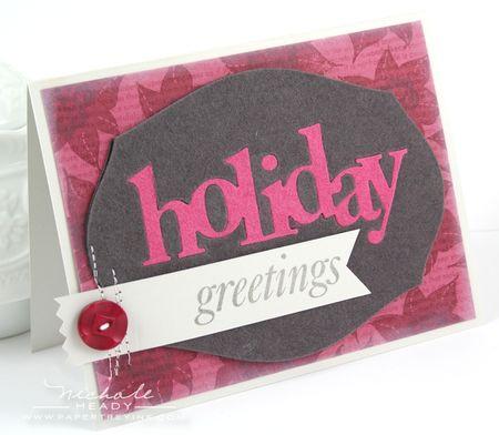 Felt Holiday Greetings Card