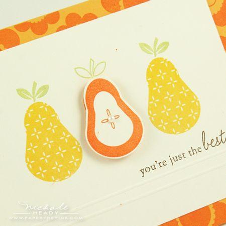 Pear closeup