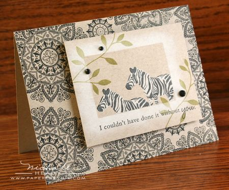 Black & Kraft Zebra Card