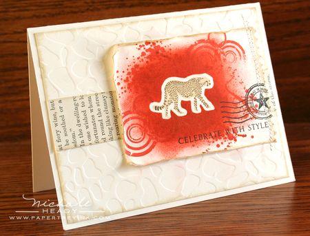 Cheetah Celebrate Card