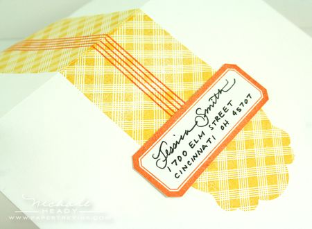 Envelope label closeup