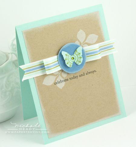 Copic Ribbon Card