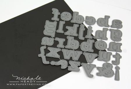 Block alphabet die