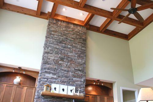Upper fireplace