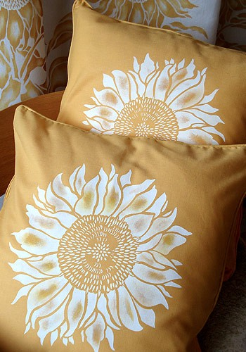 Sunflower pillows