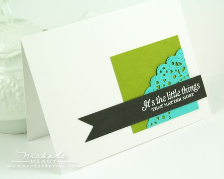 It's the Little Things card