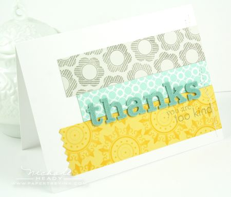Thanks Too Kind Card