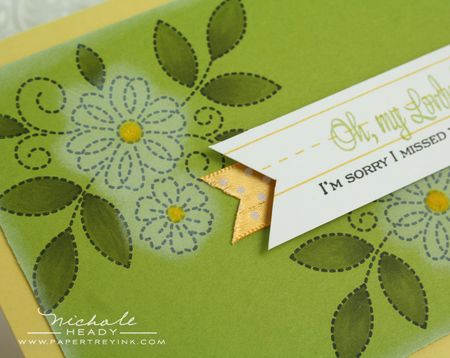 Ribbon detail closeup