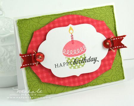 Cupcake & Gingham Card