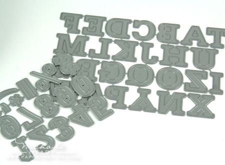 Alphabet & number dies