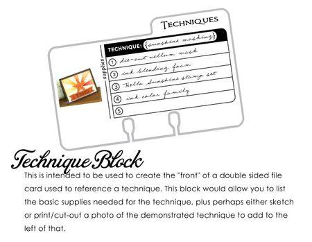 Techniques-block